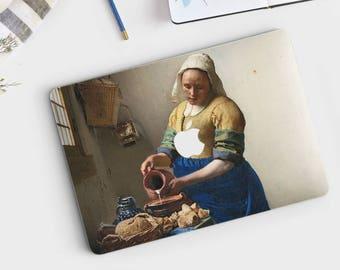 """Johannes Vermeer, """"The Milkmaid"""". Macbook Pro 15 skin, Macbook Pro 13 skin, Macbook 12 skin. Macbook Pro skin. Macbook Air skin."""