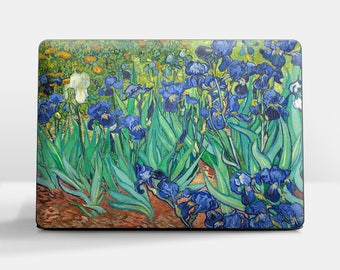 "Laptop cover (Custom size) Vincent Van Gogh ""Irises"" HP Pavilion laptop cover Asus laptop cover Lenovo laptop cover Samsung laptop cover etc"