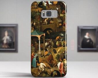 "Pieter Bruegel, ""The Dutch Proverbs"".Samsung Galaxy S8 Plus Case LG V30 case Google Pixel Case Galaxy A5 2017 Case. Art phone cases."