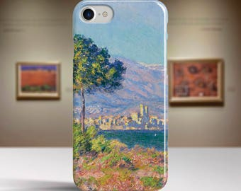 "Claude Monet, ""View of Antibes"". iPhone 7 Case Art iPhone 6 Case iPhone 8 Plus Case and more. iPhone 7 TOUGH cases. Art iphone cases."