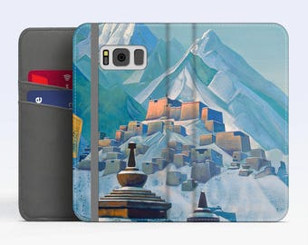 "Nicholas Roerich, ""Tibet. Himalayas"". Samsung Galaxy S8 Wallet case. Samsung S7 wallet case. Samsung S6 wallet case. iPhone Wallet cases."