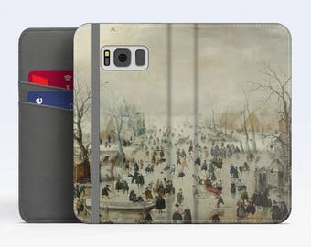 "Hendrick Avercamp, ""Winter Landscape with Skaters"" Samsung Galaxy S8 Wallet case Samsung S7 wallet case Samsung S6 wallet case iPhone Wallet"
