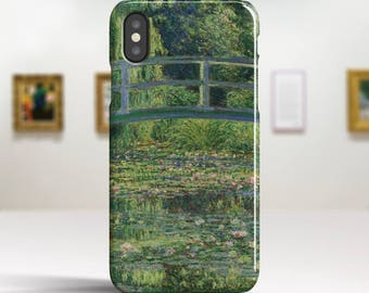 "Claude Monet, ""Waterlily Pond"". iPhone X Case Art iPhone 8 Case iPhone 7 Plus Case and more. iPhone X TOUGH cases. Art iphone cases."