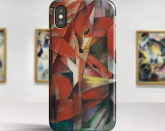 "Franz Marc, ""The Foxes"". iPhone X Case Art iPhone 8 Case iPhone 7 Plus Case and more. iPhone X TOUGH cases. Art iphone cases."