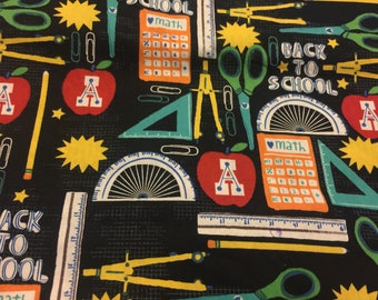 Back to school fabric teacher material cotton sewing bty