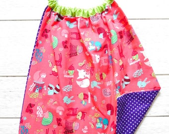 """lirge child """"pink forest animals"""" ideal for school"""