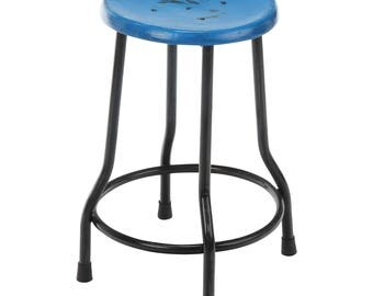 Farmhouse 18 Inch Dining Stool, Blue