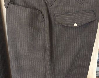 Vintage 1970's men's Tregos western rockabilly suit pants boho hipster size 34 leisure suit