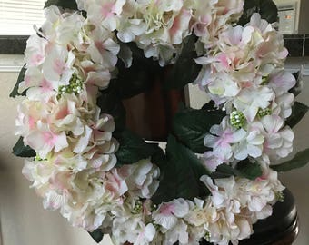 Light pink Hydrangea wreath