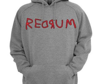 Redrum The Shining Unisex Hoodie Pullover Hooded Sweatshirt Many Sizes Colors Custom Horror Halloween Merch Massacre