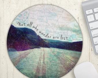 All Who Wander Mousepad, Travel Mousepad, Office Decor, Dorm Gift