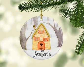 Family Christmas Ornament, Housewarming Gift, Personalized Tree Ornament