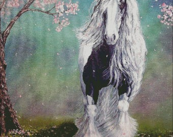 Gypsy Vanner Horse Counted Cross Stitch Pattern
