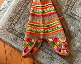 Antique Peruvian Knit Hats, peru, Wool Hats