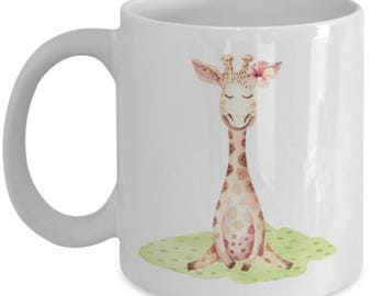 Smiling Giraffe Gift Mug