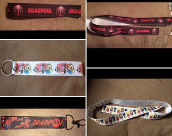 Comic Book Themed Wristlets/Lanyards