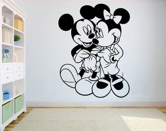 Minnie wall stickers etsy - Decoration mickey chambre ...