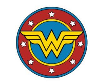 Multi Color Wonder Woman Vinyl Decal