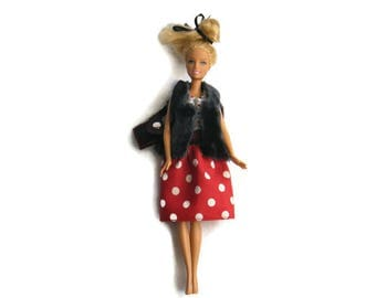 barbie doll dress for winter