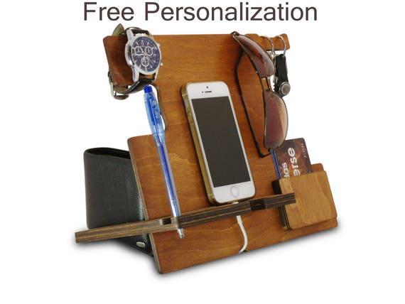 original wooden wall phone holder box