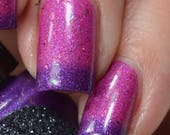 FLOATING GARDEN of EMOTIONS - Purple to pink Thermal by Necessary Evil Polish with holo, flakies