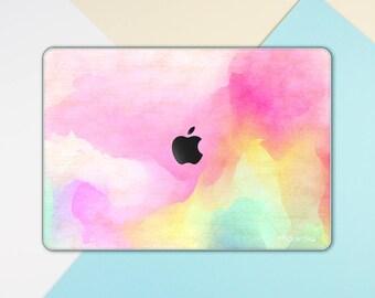 watercolor macbook skin pink paint macbook decal macbook sticker paint macbook cover pink macbook pro skin macbook air 13 FSM318T