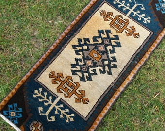 "SmallVintage Rug, Turkish Oushak small Rug,2×3'3""feet,Home living,Pasyel small rug, Turkish Carpet, Kilim Rug,"