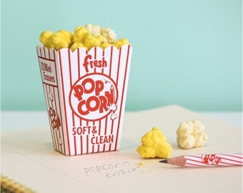 POPCORN Erasers / Fun and Unique Erasers / Kawaii!! Present / S-10 / 1725370