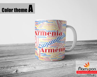 Armenia Mug, Coffee Mug, Personalized Mug, Custom Mug, Armenian Gift, Armenian, Armenian Gifts, Armenian Gift Items