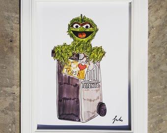 9x12 Oscar The Grouch