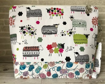Ewe: Do Ewe Craft  - Medium sized project bag for Knitting/Crochet