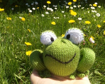 Ready made Knitted Frog Toy - Boy/Girl Toy