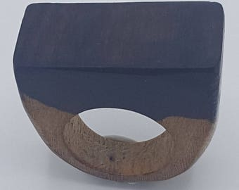Ziricote Rectangle Wood Ring