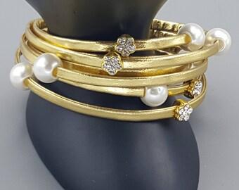 Gold Multi-Strand Bracelet