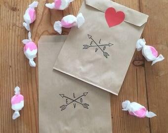 Valentine Treat Bags - Kraft
