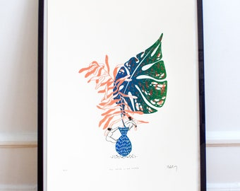 No Vase Like Home - 18x24 small edition screen print