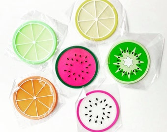 6 fruit coasters