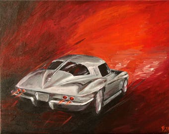 Corvette Stingray painting