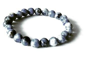 Sodalite Blue Beaded Bracelet