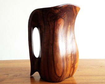 Pitcher in olive wood - 1960 - France