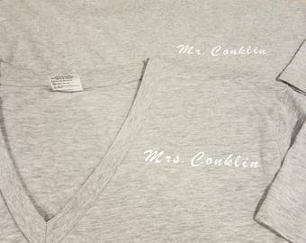 Mr. & Mrs. Shirts // Custom Wedding Shirts