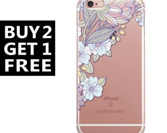 iPhone 7 case Floral iphone 7 plus case art iphone 6 case clear iphone 6s case silicone iphone 4 case transparent ipad case iphone 5 case 38