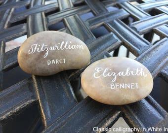 Hand Calligraphed Polished River Rocks