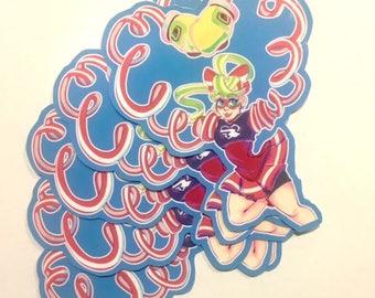 Vinyl Ribbon Girl Nintendo ARMS Sticker Decal