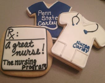 Penn State Nursing Program| PSU Logo Cookie favors | Nittany Lions | College mascot