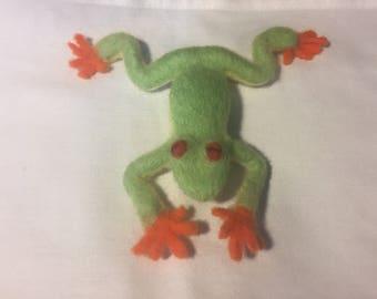 Frog, Needle felted Frog, Green Frog, handmade, Original one of a kind, Gift, Home decor, Christmas, Birthday.