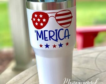 Merica Stainless Steel Tumbler 30oz (Available on other drinkware)