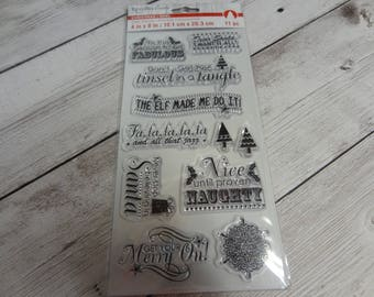Recollections Christmas #2 Stamp Set NEW