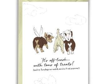 Pet Loss Card - Sympathy Corgi