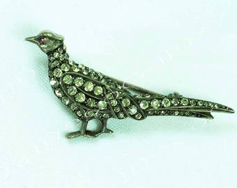 Antique Silver Pheasant Brooch